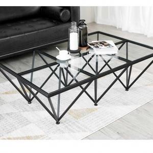 Bàn sofa kính chân sắt Sharp - BFS10